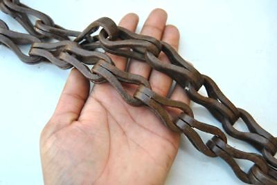 Vintage heavy swing hanging chain w hook handforged wrought iron 92.4oz 10ft
