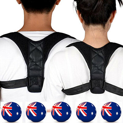 Mens Women Posture Support Corrector Back Straight Shoulders Brace Strap Correct