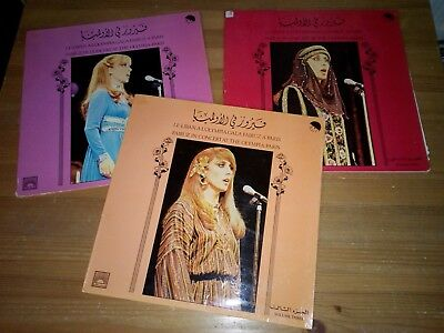 Fairuz In Concert At The Olympia Paris Volume One Two Three 3 LPs !