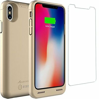 iPhone X Battery Case, Wireless Charging, Rechargeable Extended Shockproof Cover