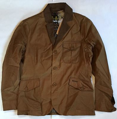 BRAND NEW-Barbour Stanley 4oz Flyweight Waxed Cotton Jacket Bark -S- MSRP$349