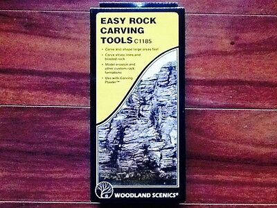 Woodland Scenics Easy Rock Craving Tools Item # C1185 Factory Sealed