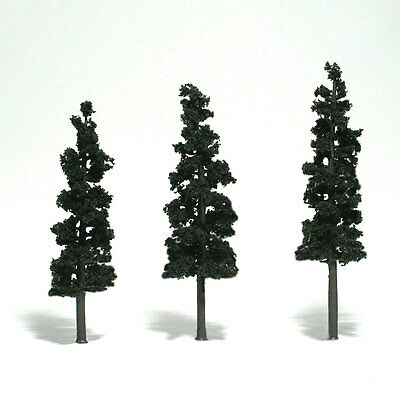 "Woodland Scenics N, HO, or O Conifer Green Pine Trees 6-7"" 3 Pack # TR1562 F/S"
