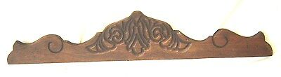 Antique Pediment with Inset Carving. Cherry?  8406