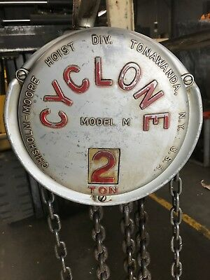"""Cyclone Chain Hoist 2Ton 4000LB 10FT Chain Model M """"MADE IN THE USA!"""" (#20)"""