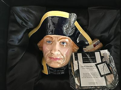 NEW Lord Horatio Nelson D7236 Royal Doulton Toby Jug of the Year 2005  FREE SHIP