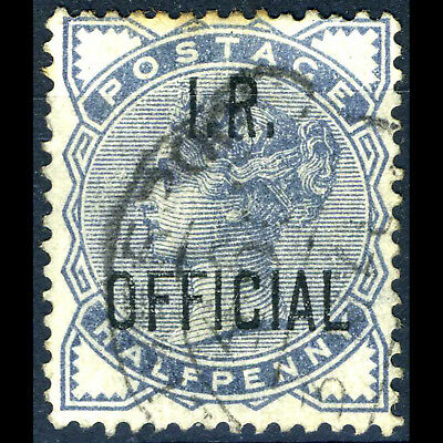 GREAT BRITAIN 1882-1901 1/2d Slate Blue IR Official. SG O5. Used. (AB352)