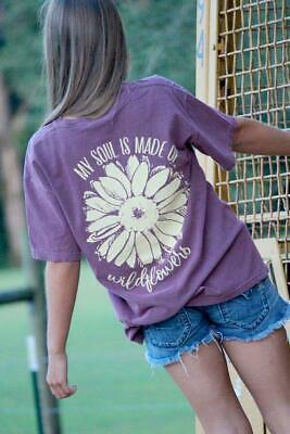 e00f1525 Sassy Frass My Soul is Made of Wildflowers Comfort Colors Girlie Bright T  Shirt