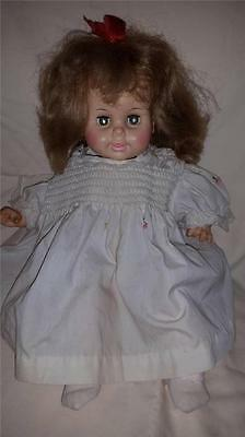 """Vintage Horsman Doll 1967 Hard Rubber Soft Body 18"""" Battery Operated Blond"""