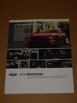 2018 Ford Mustang Customizing Made Easy Brochure 6 Pages Mint!