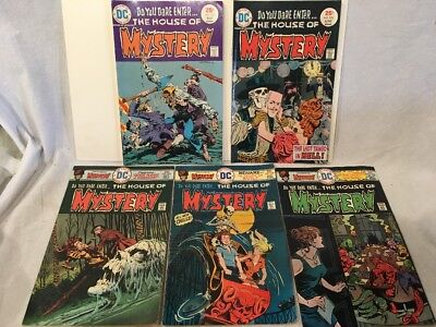 Bronze Age DC Comics House Of Mystery Lot Of 5, Classic Bernie Wrightson, VF