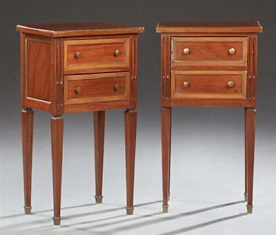 Pair of French Louis Philippe Style Mahogany Nightstands, 20th c., th... Lot 159