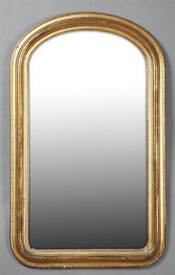 French Gilt and Gesso Louis Philippe Style Mirror, 19th c., the stepp... Lot 729