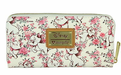 Loungefly X Disney Aristocats Marie Floral All Over Print Zip Around Wallet