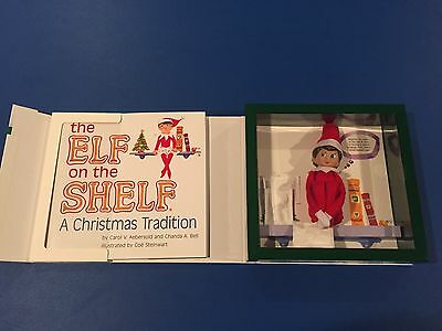 Elf on the Shelf Girl elf BLUE EYES BROWN HAIR NEW with book Christmas Holiday