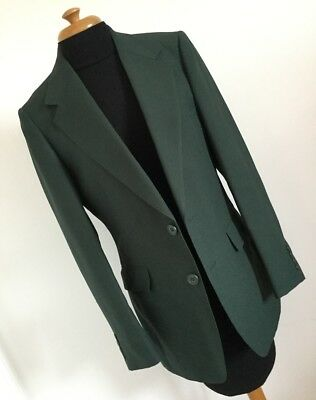 Quality Men's Vintage Texturised Polyester Bottle Green Jacket Blazer – 40""