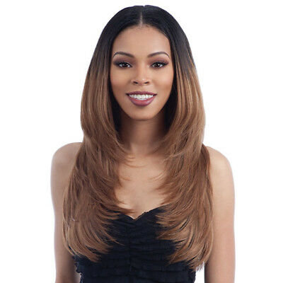 """Oval Part Long Layered Cut 22"""" - Freetress Equal Synthetic Your Own Part Wig"""