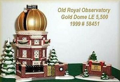 Dept 56 - Dickens Village Series -The Old Royal  Observatory Gold Dome Edn NIB