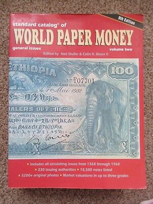 STANDARD CATALOG OF WORLD PAPER MONEY 1368-1960 BY PICK - 9th EDITION