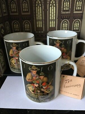 Vintage Boy Scouts Mugs, Set Of 3, 75th Anniversary by Treasure Masters