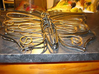 Large Pair  of Home Deco Metal Frame Butterfly with Details