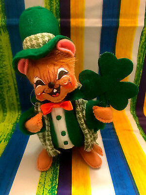 """Annalee Irish St Patrick's Day Boy Mouse 6"""" New 2018 150518 Squinty Eyes"""