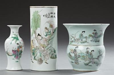 Three Pieces of Chinese Porcelain, 19th c., consisting of a large bal... Lot 834