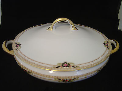 Antique Vintage Royal Bayreuth Bavaria Belmont Round Serving Bowl With Lid