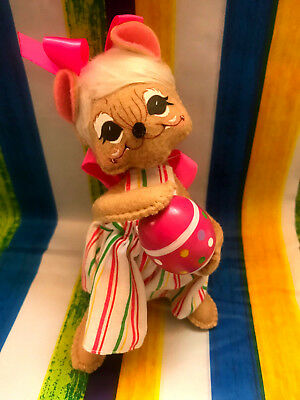 """Annalee Easter Spring Girl Mouse 6"""" New 2018 201418"""