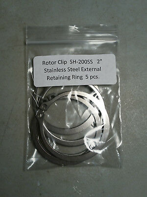 """2"""" External Stainless Steel Retaining Rings ROTOR CLIP SH-200SS 5 pc."""