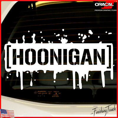 Hoonigan Decal Windshield sticker paint splatter vinyl graphic stencil jdm wrx