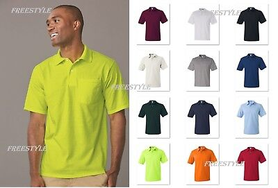 3ded9822b6b Jerzees SpotShield™ 50/50 Sport Jersey Polo Shirt with Pocket Men's 436MPR-  436P