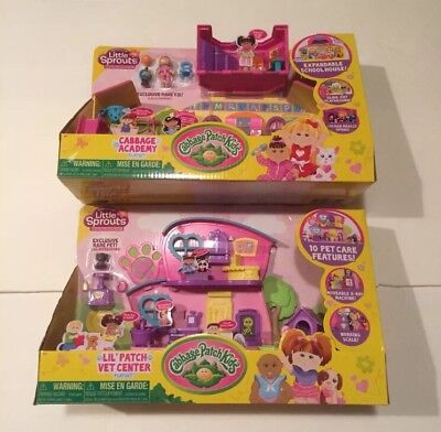 Cabbage Patch Kids Little Sprouts Academy & Lil Patch Vet Center Playsets!!!NEW