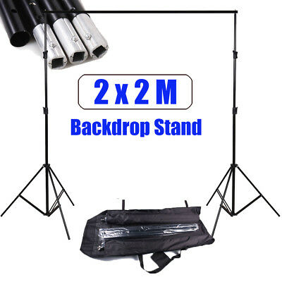 Professional Photo Studio 2x2m Backdrop Background Stand Support Heavy Duty UK