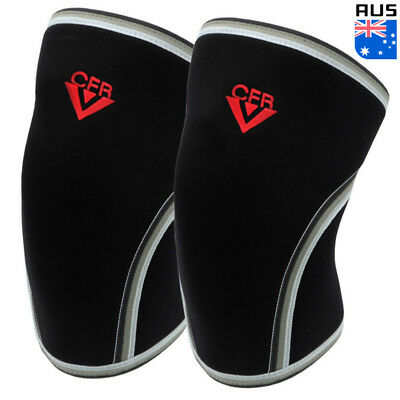 CFR 7MM Knee Sleeves Support Crossfit Power Weight Lifting Squats Patella Brace
