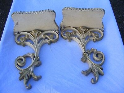Nice Pair of carved clock wall brackets