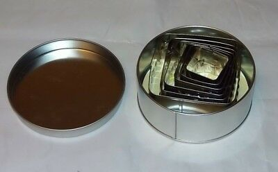 Hillys Kitchen 6-Piece square Pastry Cutter cutters cooking new in tin