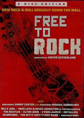 Free To Rock. How Rock & Roll Brought Down The Wall. 2 Disc Set. New