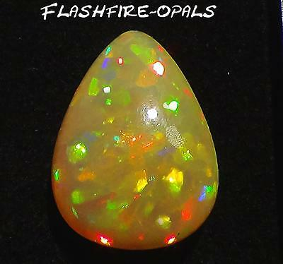 20.6ct! DOPPELS.GEM WELO OPAL  BRILL. HONEYCOMB PATTERN  VIDEO FLASHFIRE-OPALS*