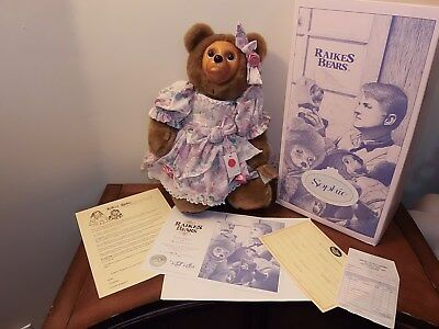 Raikes Bears   Sophie with box, papaers, tags and sales reciepts