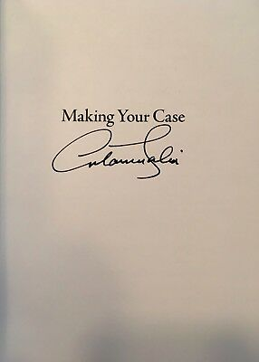 """ANTONIN SCALIA (Supreme Court Justice) signed authentic """"Making Your Case"""" book"""