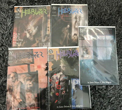 HELLBLAZER #1-4, 7 & Annual #1 (1988 Series)  VF/NM