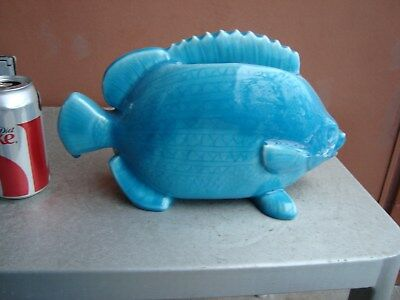 Rookwood Turquoise Fish Letter Holder 1930 Shirayamadani Design