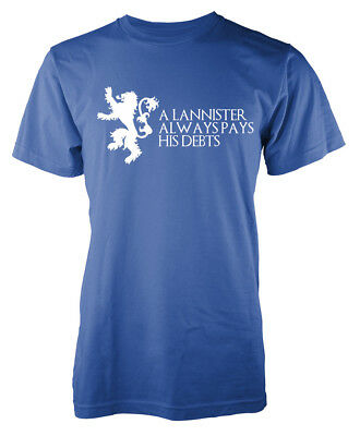 Game of Thrones Tyrion A Lannister Always Pays His Debts GOT Adult T Shirt