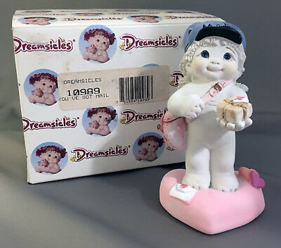 """VINTAGE DREAMSICLE FIGURINE, """"You've Got Mail"""" Signed & Dated 2000, NIB"""
