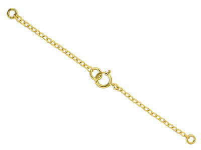 18ct Yellow Gold Necklet / Necklace Bolt Ring Extender & Safety Chain Necklace