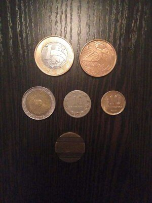 Set Brazil 2 coins and Argentina 3 coins and 1 token