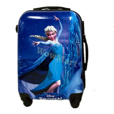 """New Kid Gift Rolling Suitcase Travel 4-Wheel Luggage Trolley Frozen ( 20"""" )"""