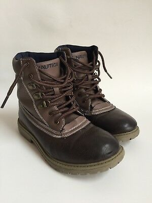 Nautica Boys Winter Boots Brown -Size 2