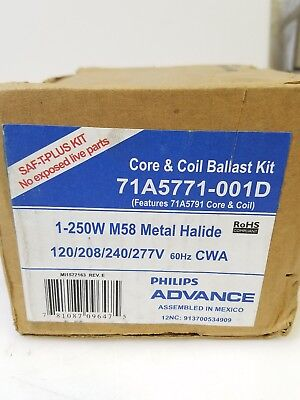Advance Core /& Coil Ballast Kit 71A5740-001D 250W M58 Metal Halide 480V
